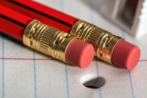 Bleistift mit Radierer