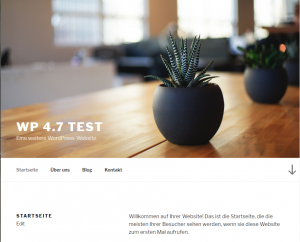 Neues Standardtheme Twenty Seventeen