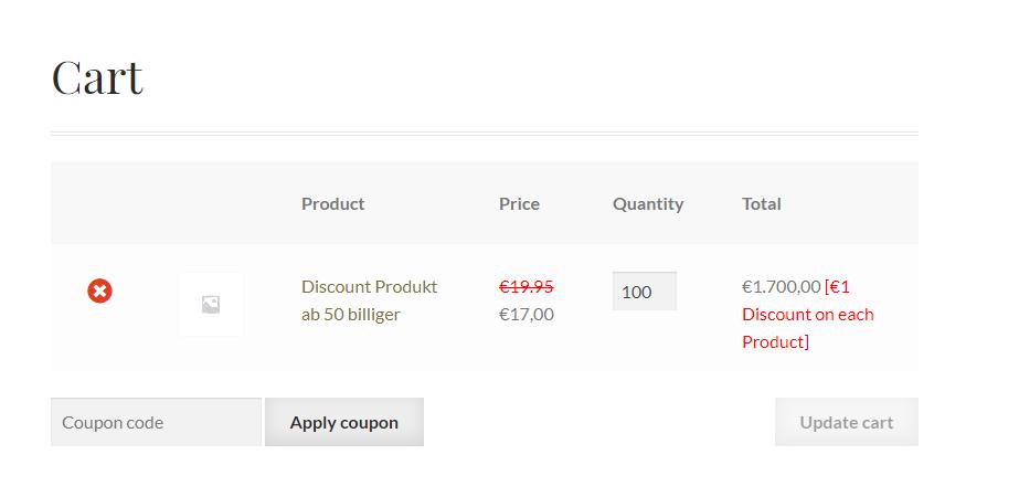 Bildschirmfoto Warenkorb